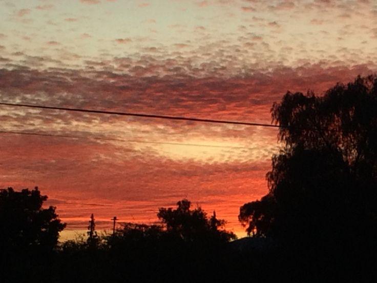 Sunset from Aberdeen. Friday 20151002