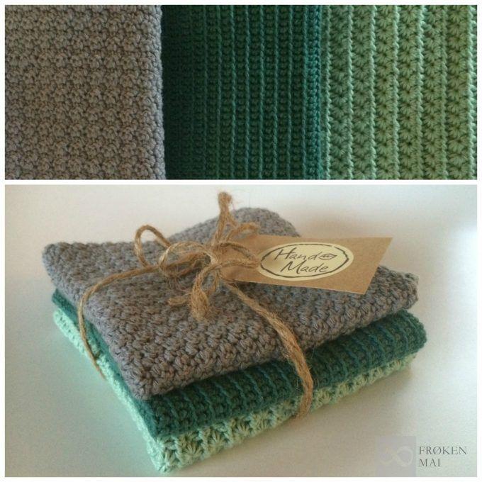 Hæklet karlude - Dish cloth (crochet)