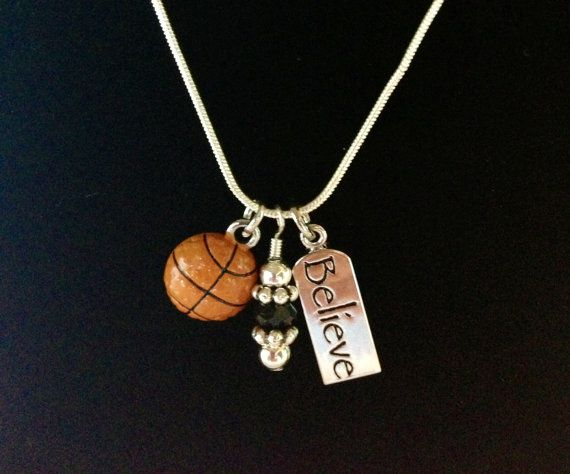 Sporty Girl Basketball Necklace Believe by SportyGirlBoutique, $17.00