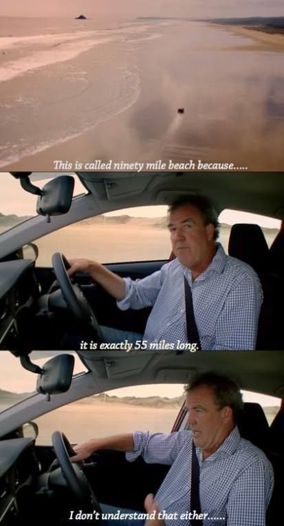 Because this is New Zealand. That's why. Jeremy Clarkson Top Gear BBC