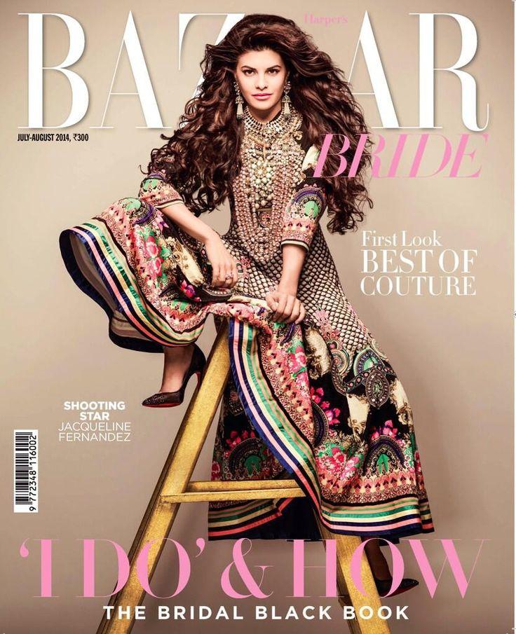 @Asli_Jacqueline Fernandez #Styled by @DeekshaNanda on Harper's Bazaar #IndianBride Issue Cover, July, 14