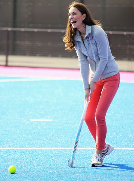Catherine playing field hockey with Britain's Women's Olympic team 3/15/12. #Kate #Middleton