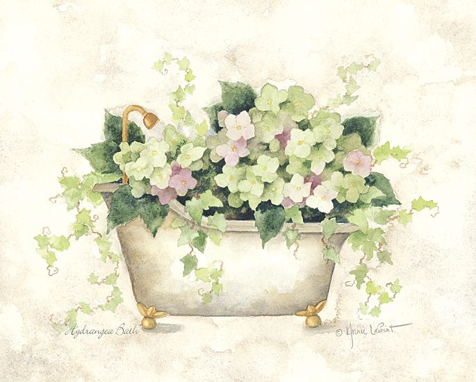 Annie Lapoint -  Hydrangea Bath