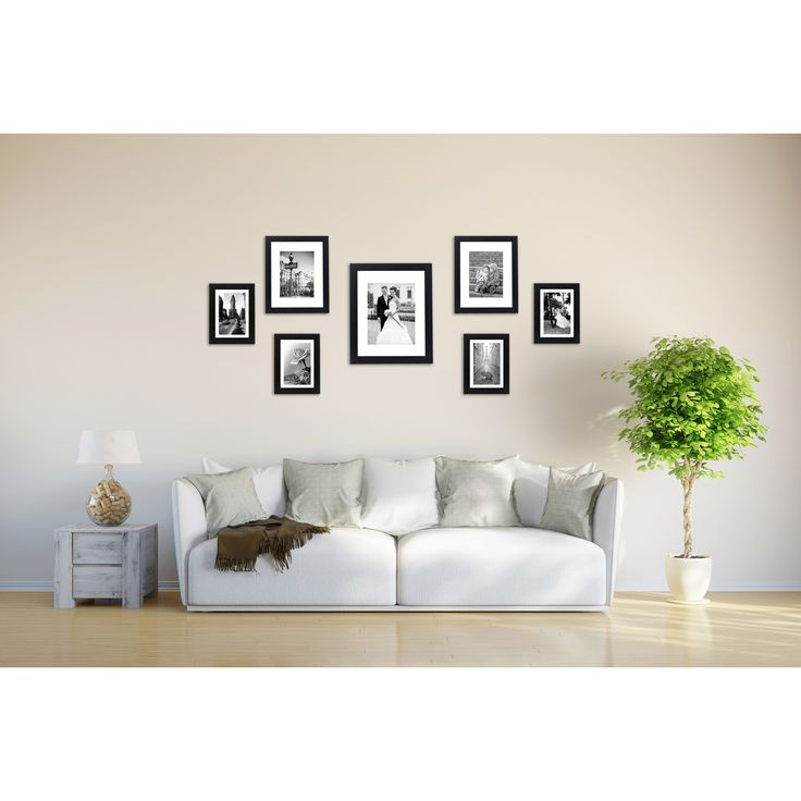 7 piece wall frame set for one 8 x 10 inch two 5 x 7 inch and four 4 x 6 inch photos by americanflat