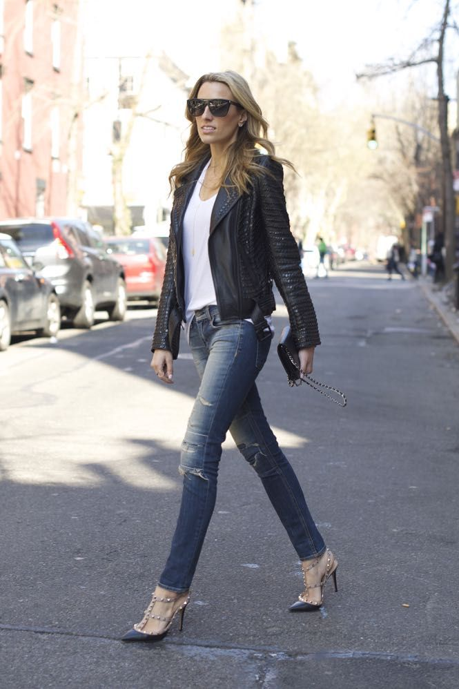 A.L.C. studded leather jacket, Valentino Rock studs