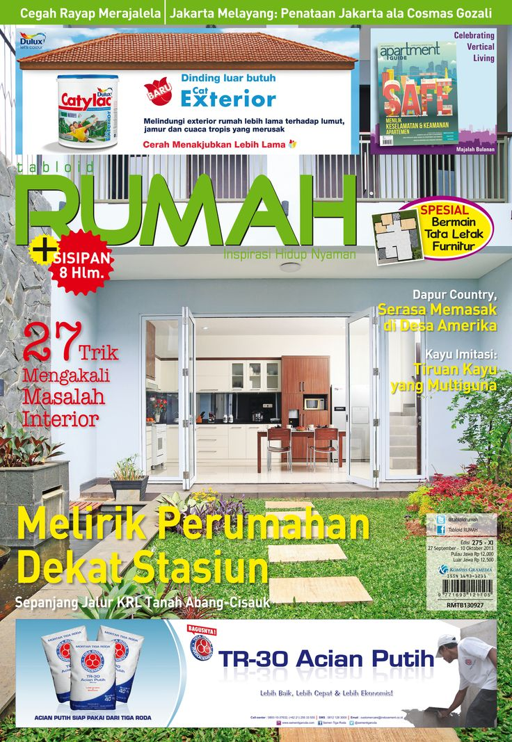 Beautiful Homes Design, Beautiful Interior and Exterior Home Design Ideas, Cover tabloid RUMAH edisi 275