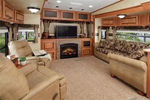 Beautiful 5th wheel living area.