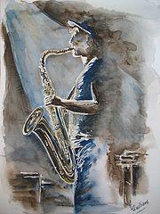Saxophoniste. Valérie Crochard