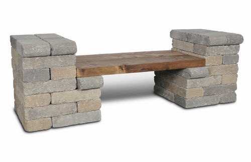 panca da giardino classica The Retreat General Shale Brick