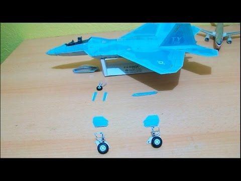 F 22 Raptor Papercraft - YouTube