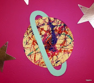 marble-painted planets. perfect art project for a space unit.   tippytoe crafts - fun