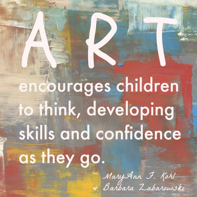 100% Yes! What is your favorite art method to do with your kids?