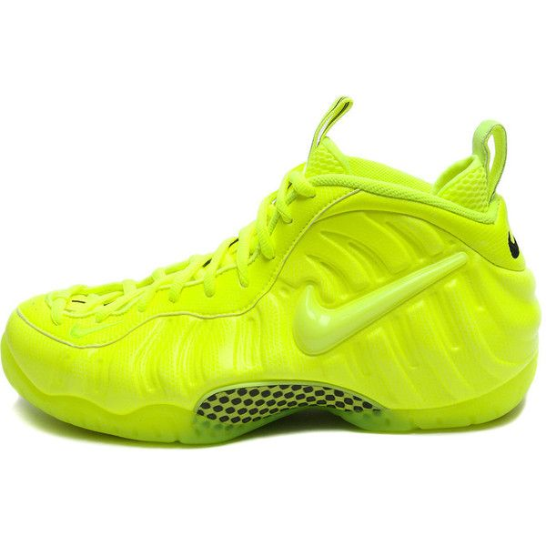 Nike Air Foamposite Pro Volt Neon Yellow 624041-700 ON HAND / READY TO... ❤ liked on Polyvore featuring shoes, nike and sneakers
