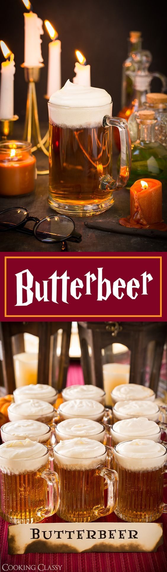Butterbeer Recipe and a Harry Potter Party - only 5 ingredients and so easy to make! Not so rich, sweet and heavy like some Butterbeer recipes, this one is my favorite!: