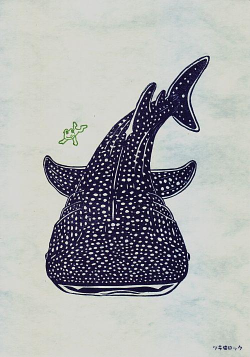 Whale Shark ジンベエザメはんこ
