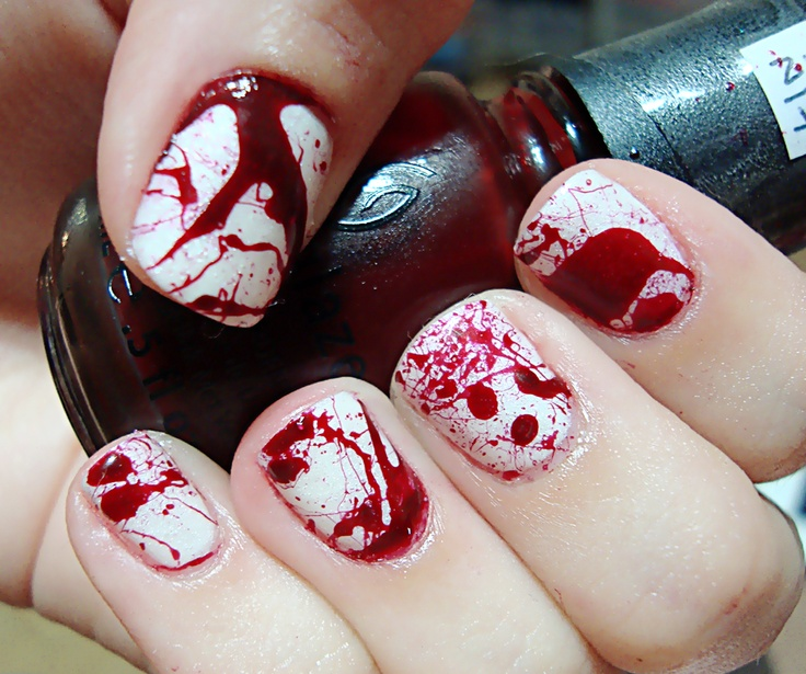 Blood Splatter Mani... using Red Jelly