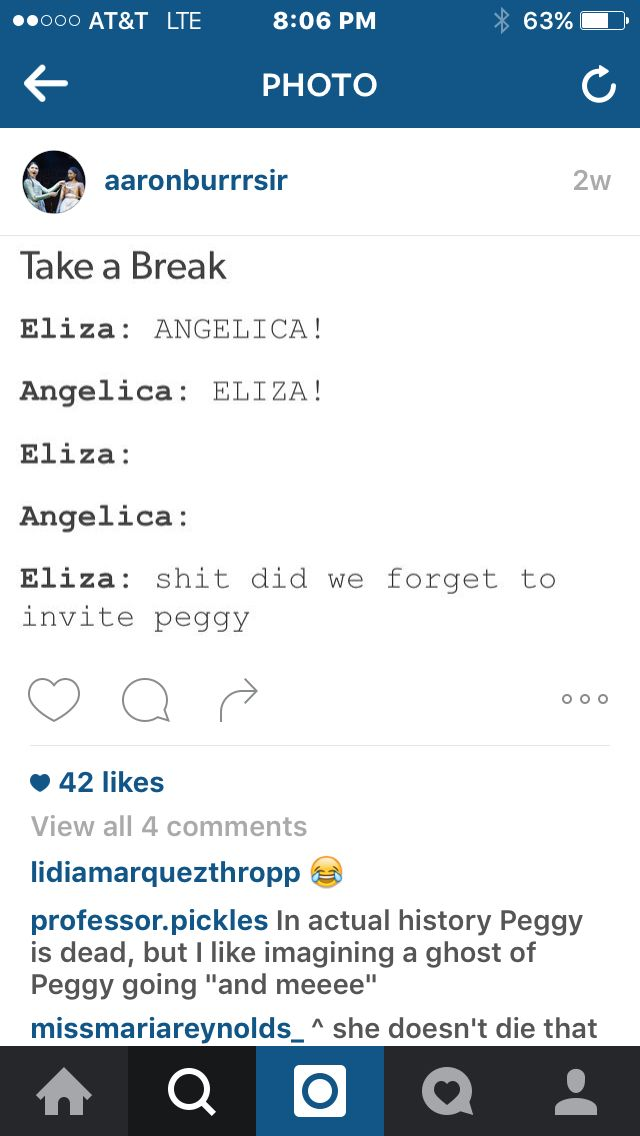 Hahahahaha it's funny because at this point in history Peggy is dead. Sorry not sorry.