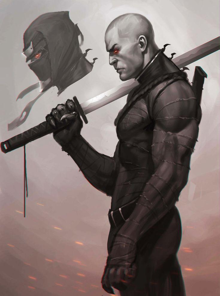 ArtStation - Some ninjas, Aleksey Bayura                                                                                                                                                      More