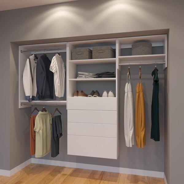 Vista 8 Ft Closet Organizer System 96 Inch Style E Closet
