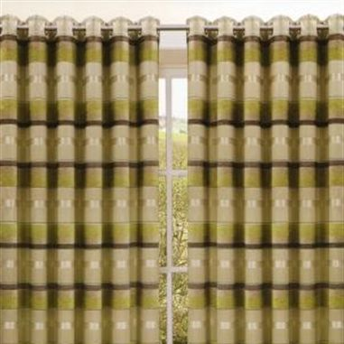 Estrada Green Eyelet Curtains