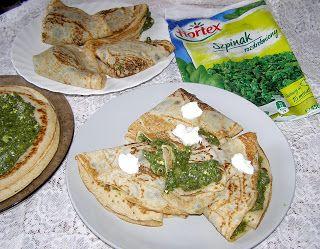 W Mojej Kuchni Lubię.. : zdrowe i smaczne pszenno-żytnie naleśniki ze szpin...