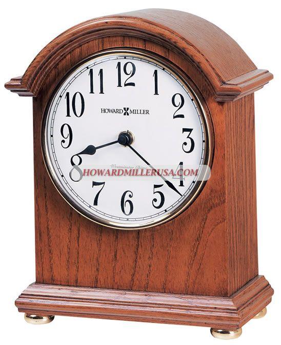 Arched Oak Tabletop Clocks Howard Miller Mantel Clock 635121 MYRA This  Arched Mantel Clock Features A