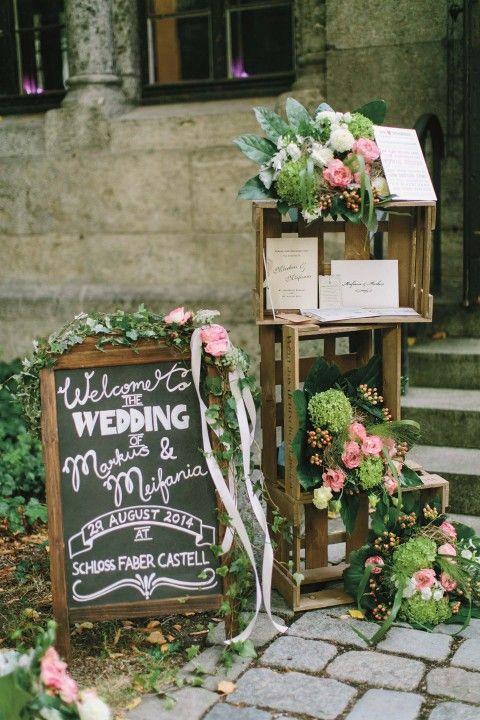 Willkommenstafel (Hochzeitswahn)