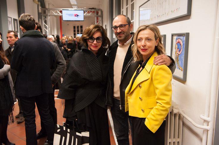 Mila anufrieva with Max Leonardelli and Annagemma Lascari #accademiacostumeemoda