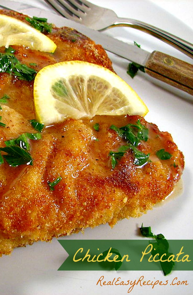 Chicken Picatta Recipe - Spruce up an ordinary chicken dinner with this yummy dish. 308 plus repins!