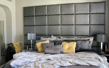 Wall Mounted Tall Fabric Headboards Headboards