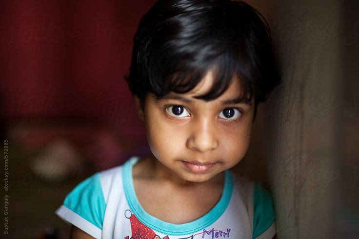Portrait of a cute little girl by saptakganguly | Stocksy United