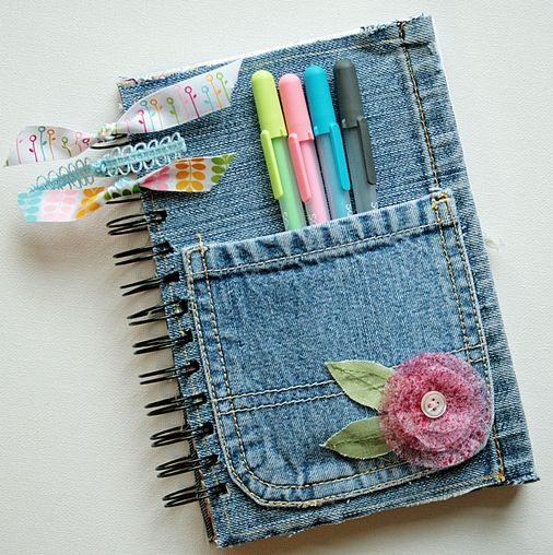 How To Make a Denim Notebook Cover