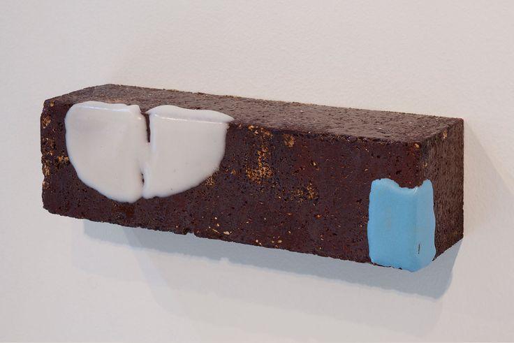 Arlene Shechet, More Than Itself (Fudge), 2012. Glazed fire brick. 2.5 x 9 x 2.5 inches