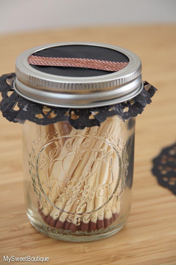 #DIY - une boîte d'allumettes Mason Jar