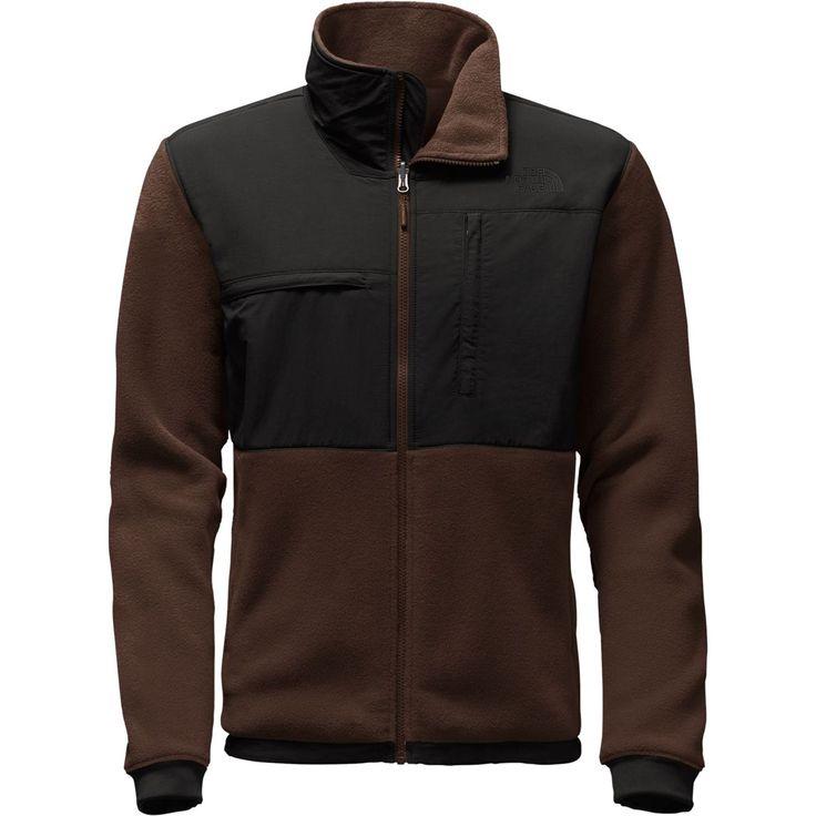 The North Face - Denali 2 Fleece Jacket - Men's  - Recycled Coffee Bean Brown/Tnf Black