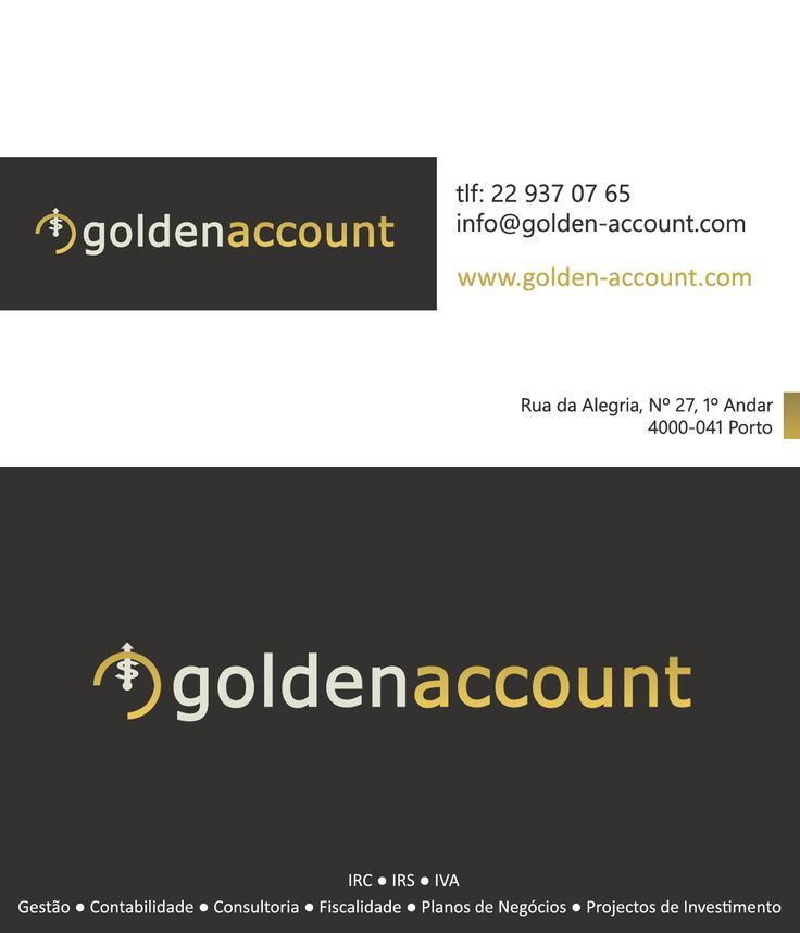 Golden Account business card design http://golden-account.com/