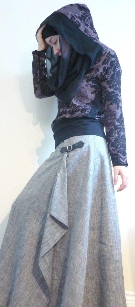 Hijab Style<3 Love the skirt!
