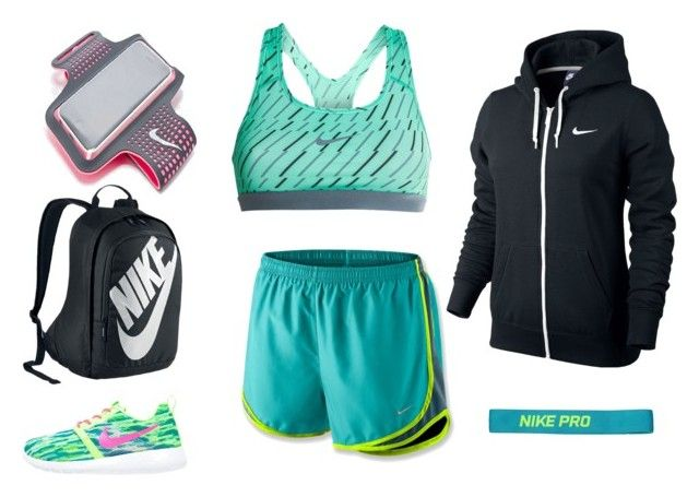 """""""Nike - Running Outfit"""" by dunithigalagedara ❤ liked on Polyvore featuring NIKE"""