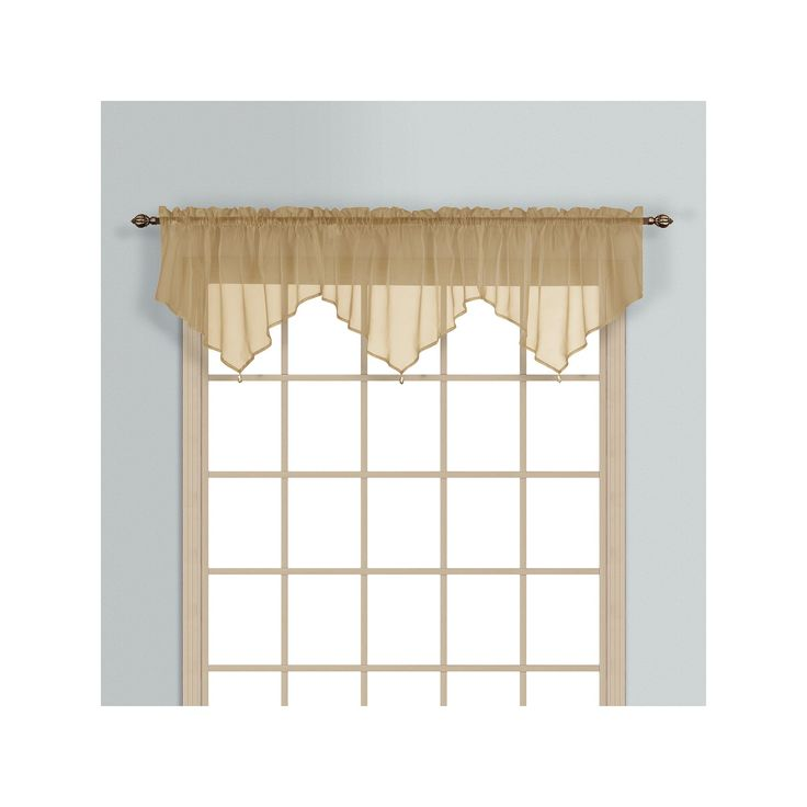 United Curtain Co. Monte Carlo Ascot Valance - 40'' x 26'', Brown, Durable