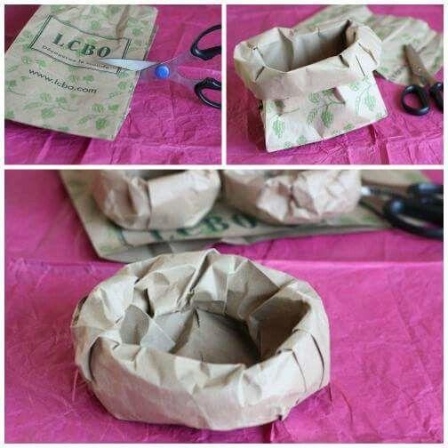 Nest van een papierenzak.