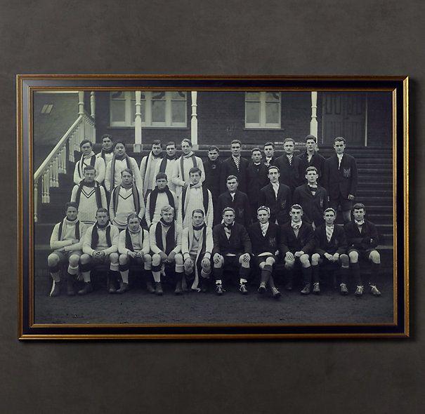 Vintage Sports Team Portrait, Eton College & Bedford School, 1925