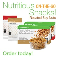 Herbalife roasted soy nuts :) yummy + healthy!