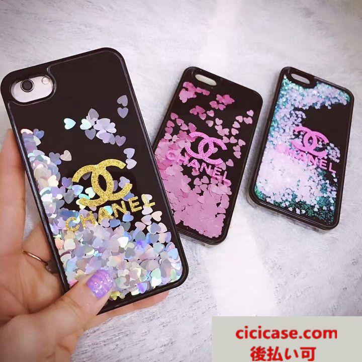 ブラント シャネル CHANEL iPhone7 ケース 流れ砂 アイフォン 7/8 プラス カバー 可愛い iPhone6s plus case