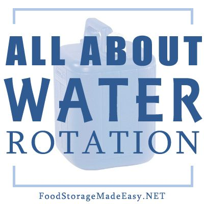 Find answers to questions about rotating  your stored water. Storing water is crucial in case of emergency.