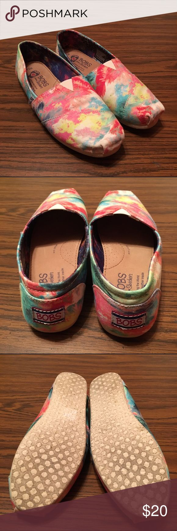 Tye-dye BOBS shoes Cool, fun colors to add style to any outfit. Only worn two or three times. Shoes Flats & Loafers