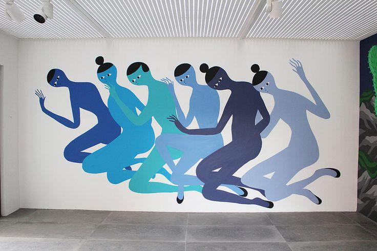 Santiago Salvador Ascui, paintings, murals, Chilean artist, saturated colors