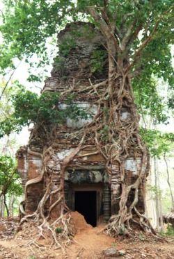 Koh Ker -  Temple group Prasat Pram,Cambodia