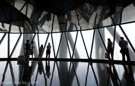 Guangzhou tv tower windows