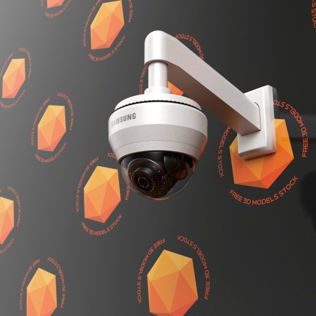 The dome IP camera 3d model has a high detail level for close shots and it can be used on multiple projects of architectural visualization or vfx compositing.