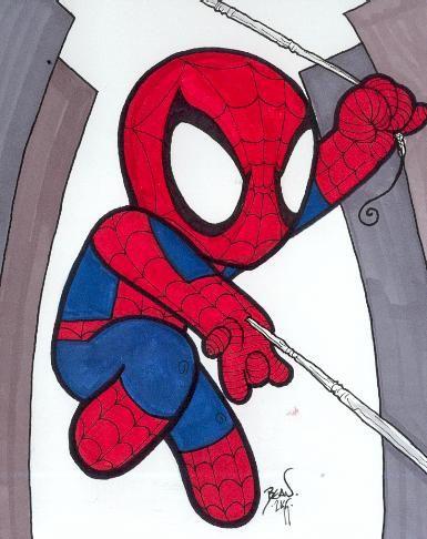 Chibi-Spider-Man 11. by hedbonstudios on DeviantArt
